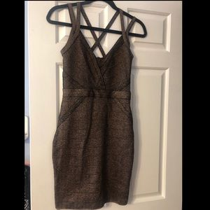 Guess Gold Bodycon Dress